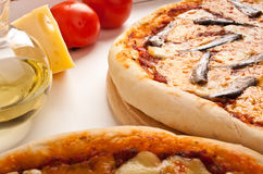 Pizza with anchovies Stock Image