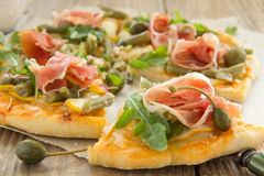 Pizza with arugula. Stock Images