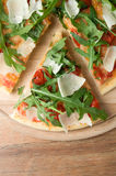 Pizza with arugula (rucola) Stock Photography