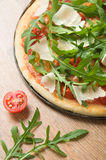 Pizza with arugula Royalty Free Stock Photography