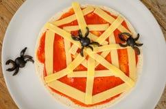 Pizza assustador Fotos de Stock Royalty Free