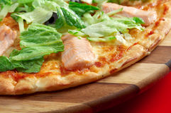 Pizza Atlantic salmon Stock Photos
