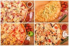 Pizza auf dem Tisch Lizenzfreies Stockfoto