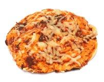 Pizza auf Weiß stockfotografie