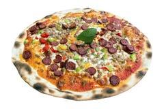 Pizza auténtica de la carne y de la pimienta Imagenes de archivo