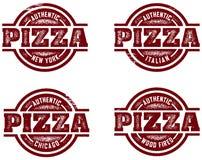 pizza autentyczni znaczki Fotografia Stock