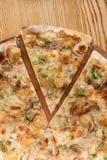 Pizza avec des champignons de porcini Images stock