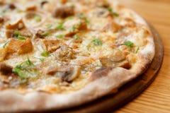 Pizza avec des champignons de porcini Photo libre de droits
