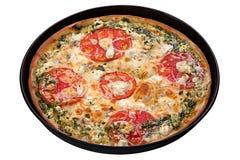 Pizza avec du fromage bleu Photos libres de droits