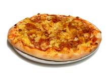 Pizza avec l'ananas Photographie stock libre de droits