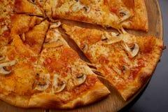 Pizza avec le champignon image libre de droits