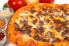 Pizza avec le doner images libres de droits