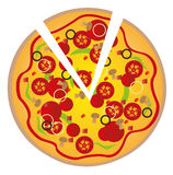 Pizza background Royalty Free Stock Image