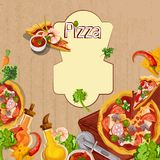 Pizza background template Stock Images