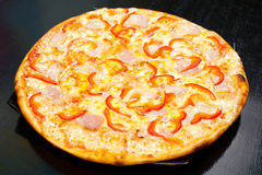 Pizza with bacon, closeup Stock Photography