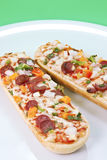 Pizza Baguettes Stock Images