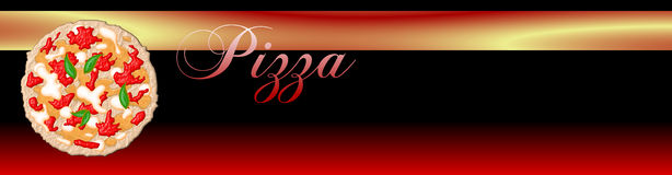 Pizza Banner Stock Photo