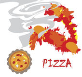 Pizza banner. Background for pizzerias and restaurants.Vector illustration Royalty Free Stock Photography