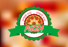 Pizza banner on color background Royalty Free Stock Images