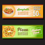 Pizza banner Stock Photography