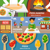 Pizza Banners Set Royalty Free Stock Image
