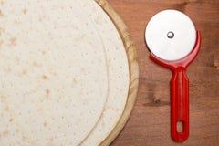 Pizza base - cake Stock Images