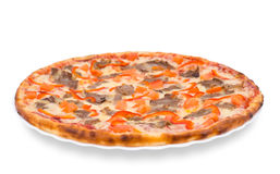 Pizza with beef Stock Images