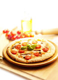 Pizza with beer Stock Photos