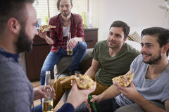 Pizza and beers Royalty Free Stock Photography
