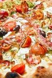 Pizza-Belag stockfotos