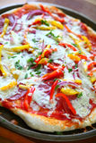Pizza with bell peppers Royalty Free Stock Photography
