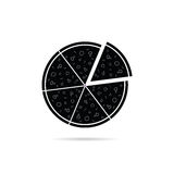 Pizza black icon vector Stock Photos