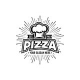 Pizza Black and White Royalty Free Stock Photography