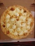 Pizza blanca Fotografía de archivo