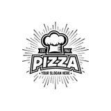 Pizza blanco y negro Fotografía de archivo libre de regalías