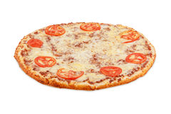 Pizza Bolognese. Pizza isolated on white background Royalty Free Stock Photo