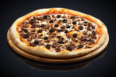 Pizza Bolognese with meat royalty free stock image