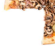 Pizza border Stock Images