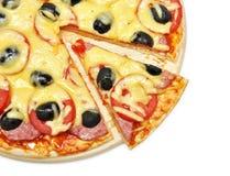 pizza borttagen skiva arkivbilder