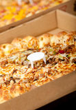 Pizza on a box Royalty Free Stock Image