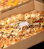 Pizza in a box Royalty Free Stock Images