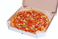 Pizza in the box Royalty Free Stock Image