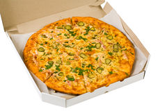 Pizza in box Stock Photos