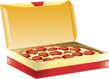 Pizza in a Box Stock Photo
