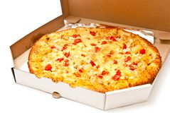 Pizza in box Royalty Free Stock Photos