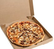 Pizza in a Box stock photography