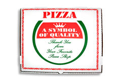 Pizza Box. Freshly made pizza out for delivery Royalty Free Stock Photos