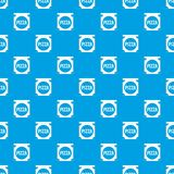 Pizza box cover pattern seamless blue. Pizza box cover pattern repeat seamless in blue color for any design. Vector geometric illustration vector illustration