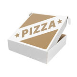 Pizza box with custom design Royalty Free Stock Photography