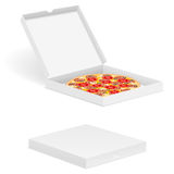 Pizza in box Stock Photo